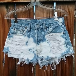 Levi's vintage acid wash button fly shorts sz 28